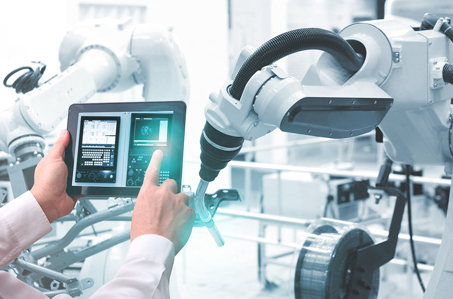 working with technologically controlled machines