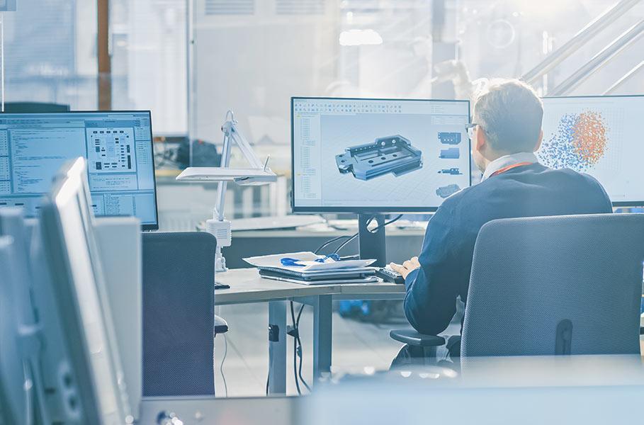 employee at work (vehicle development)
