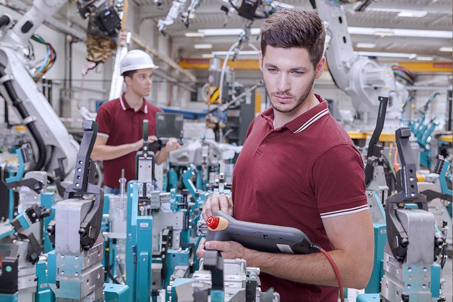 Mitarbeiter in der Produktion