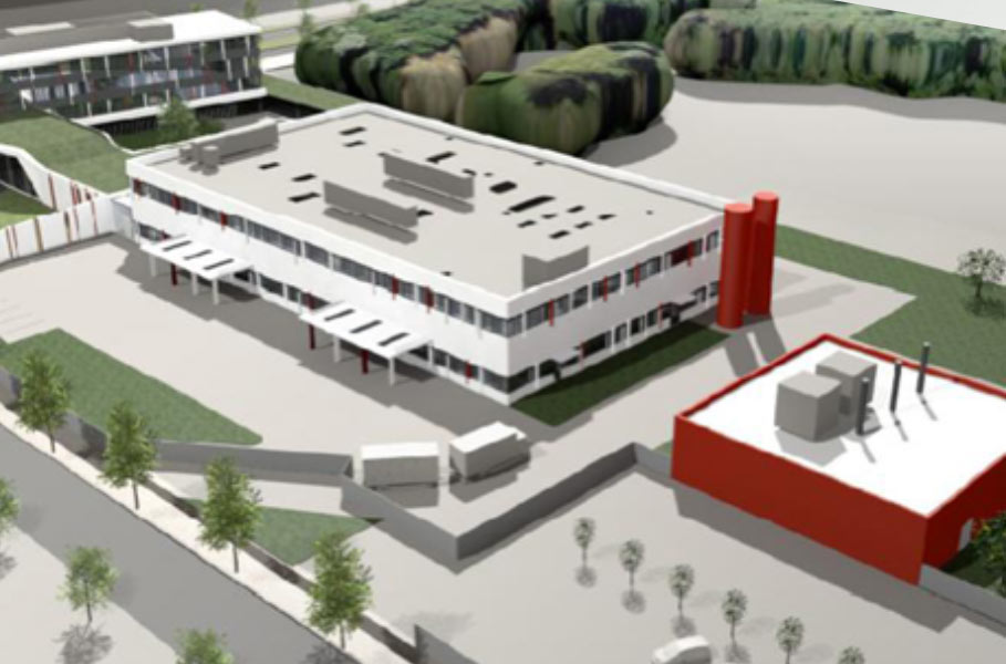 model of a factory