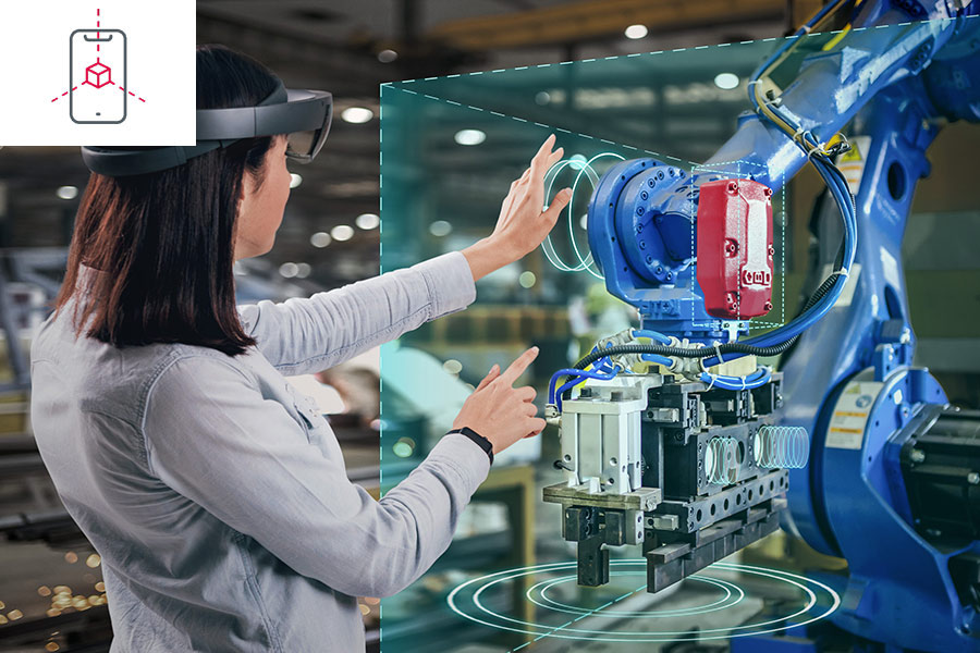 maintenance of a machine with VR technology